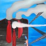 Tutto fumante(With smoke),2008 olio su tela cm50x70, Pasquale Mastrogiacomo Acerno (SA)