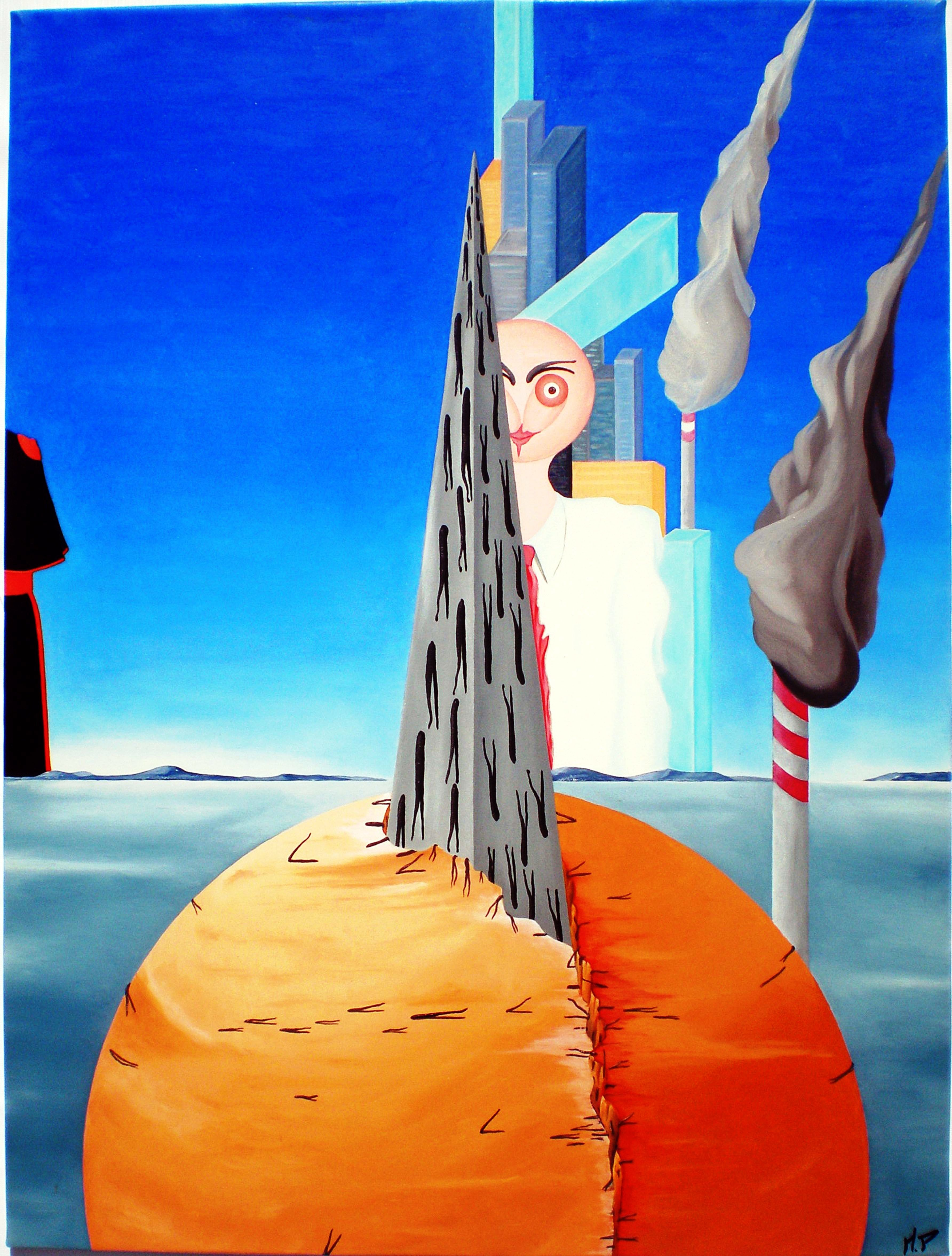 Sacralità violata, olio su tela cm 60x80, Pasquale Mastrogiacomo Acerno (SA)