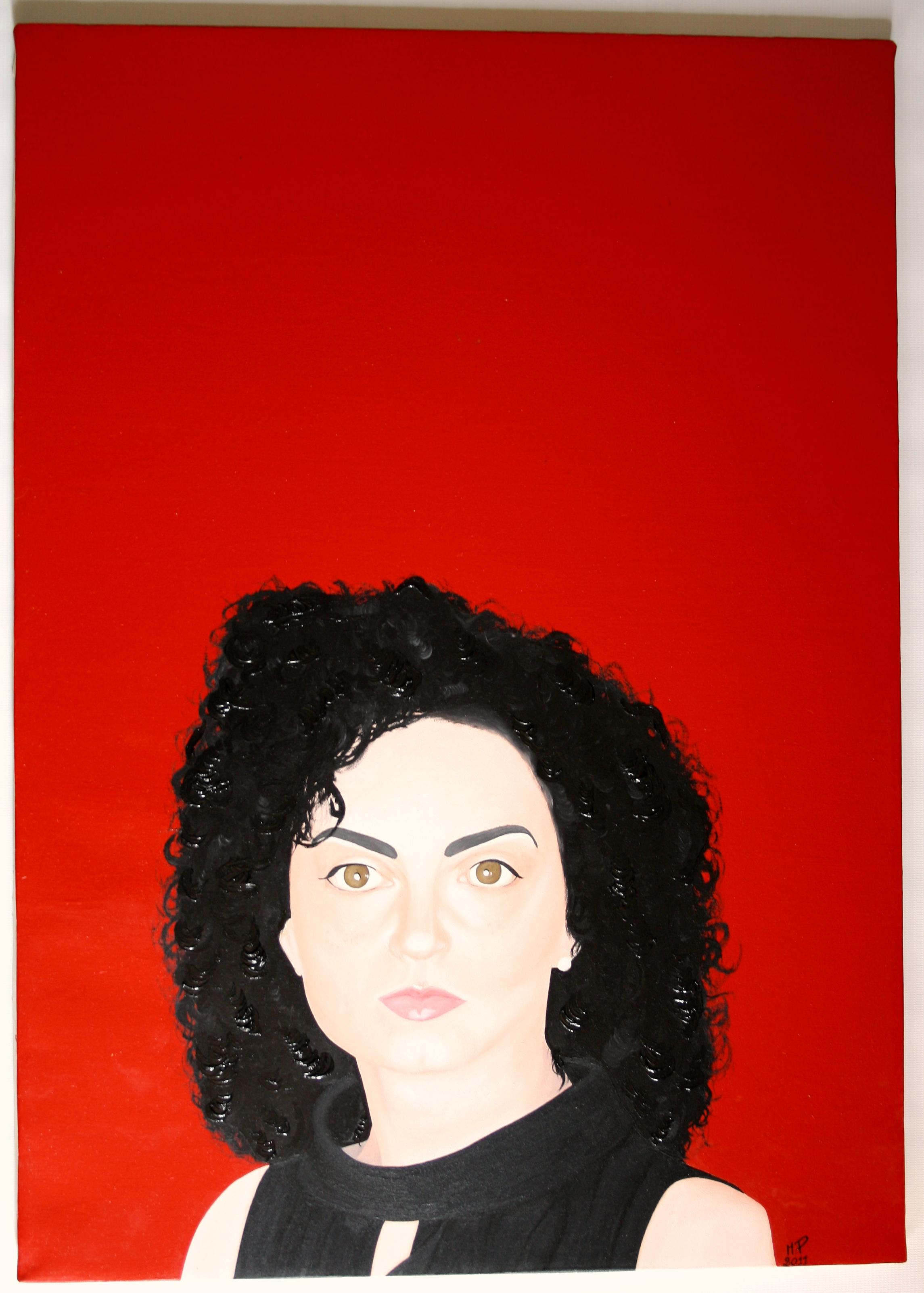 Ritratto femminile, 2011 olio su tela cm 50x70, Pasquale Mastrogiacomo