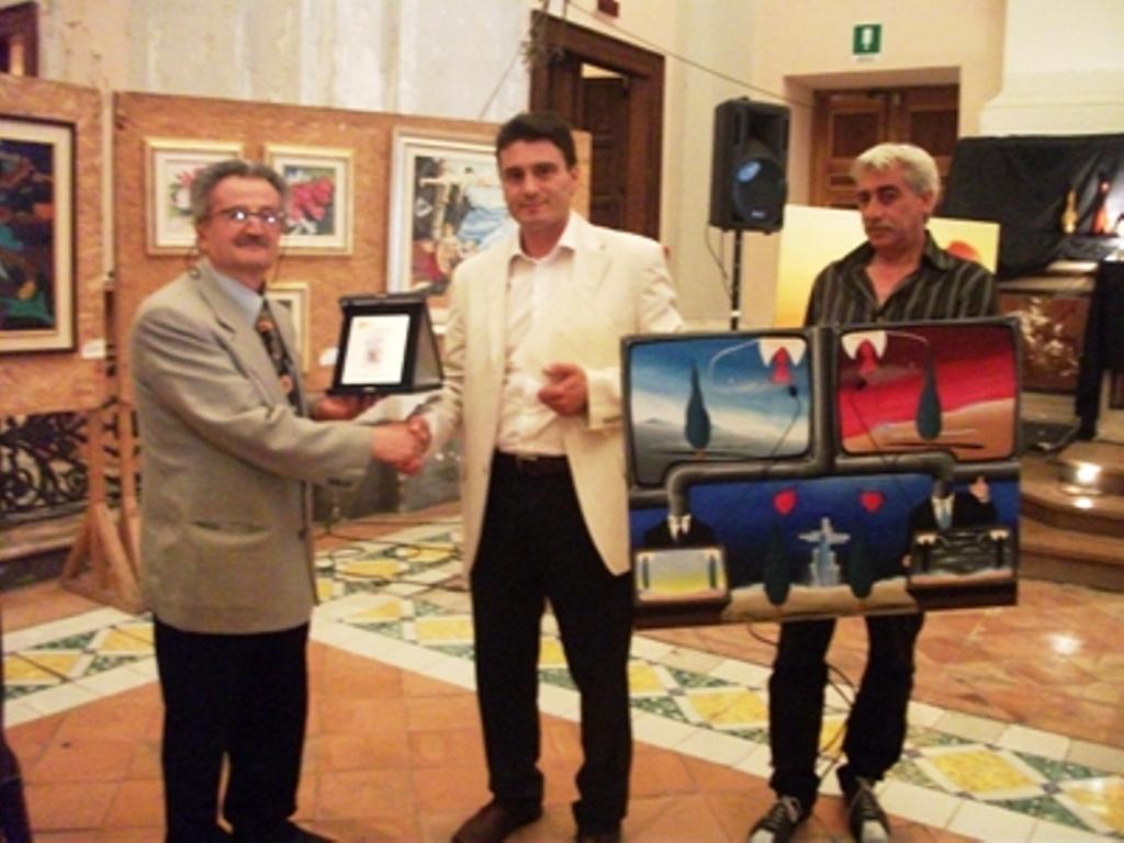 Premiazione, Premio Internazionale Letterario-Artistico, Salerno,Pasquale Mastrogiacomo