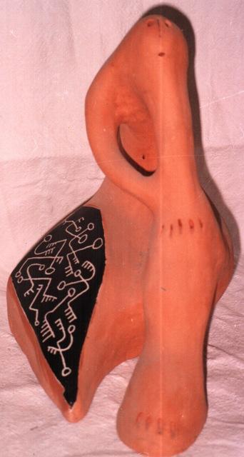 Custode di verità, terracotta e maiolica(ceramica artistica), Pio Mastrogiacomo, Acerno(SA)