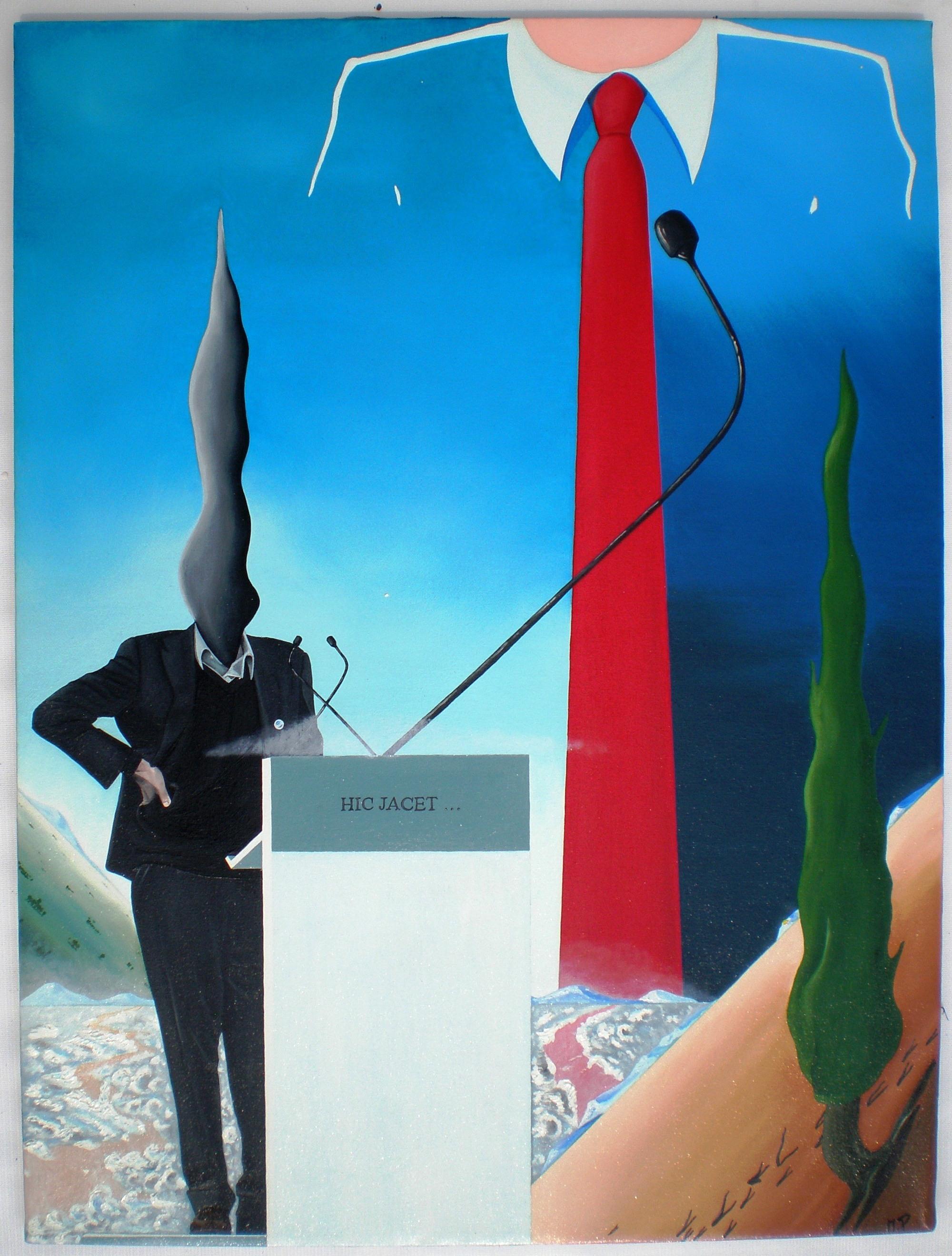 Convention, 2012, olio su tela, cm 80x60, Pasquale Mastrogiacomo, Acerno (SA)