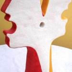 Conversazione a tre (three-way conversation), 2004 scultura (sculpture), ceramica artistica (ceramic art) h cm 46, Pasquale Mastrogiacomo, Acerno (SA)