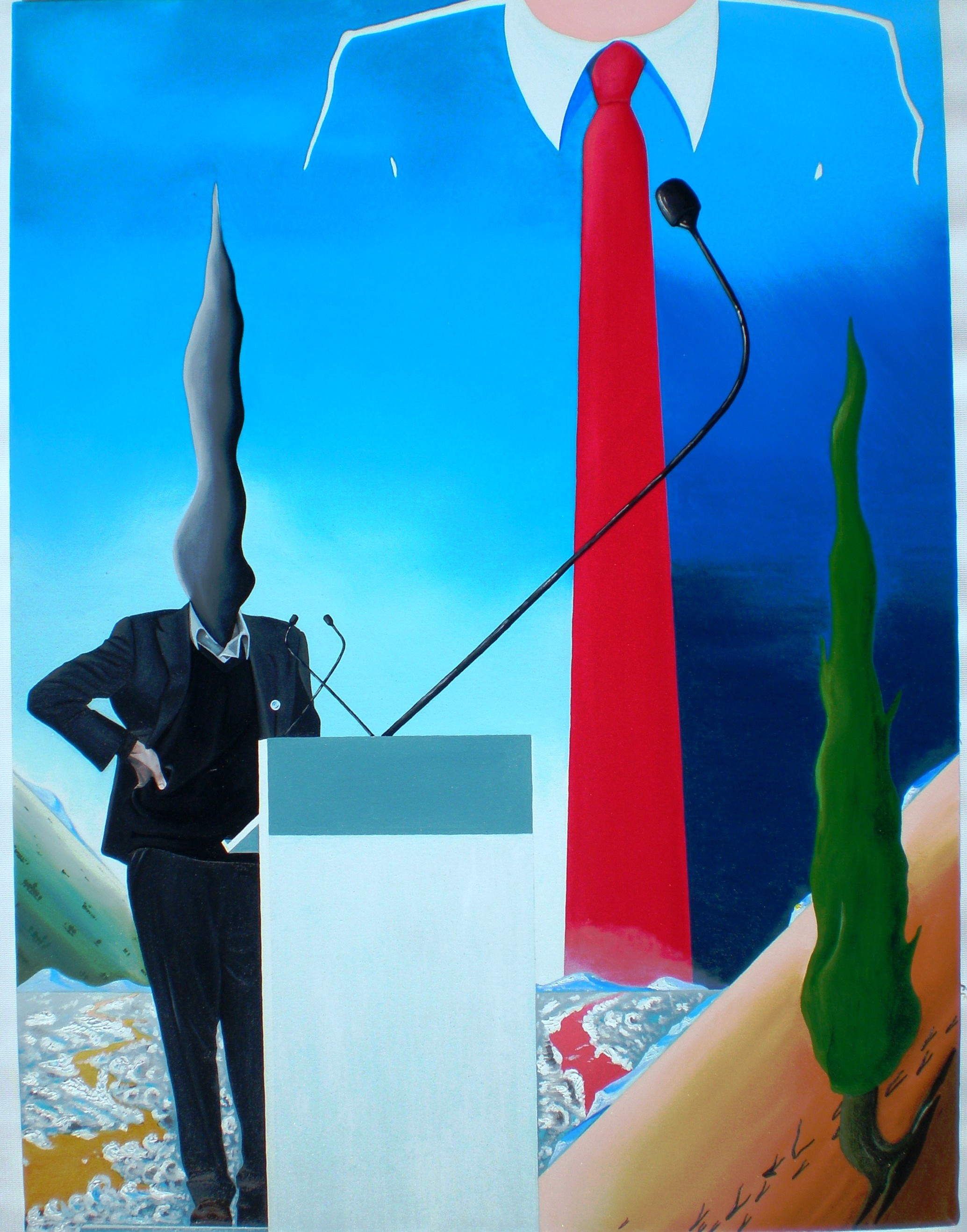 Convention, 2011 olio su tela cm 80x60, Pasquale Mastrogiacomo