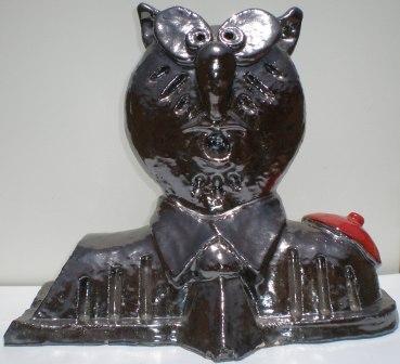 Tempio dell'occulto, 2004 ceramica h.cm 33, Pasquale Mastrogiacomo, Acerno(SA).