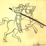 Copia, disegno a penna, Pasquale Mastrogiacomo, 1995