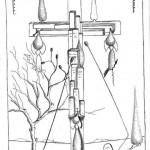 Disegno a penna 2012, Crocifissione di grattanuvole, Pasquale Mastrogiacomo, Acerno(SA)