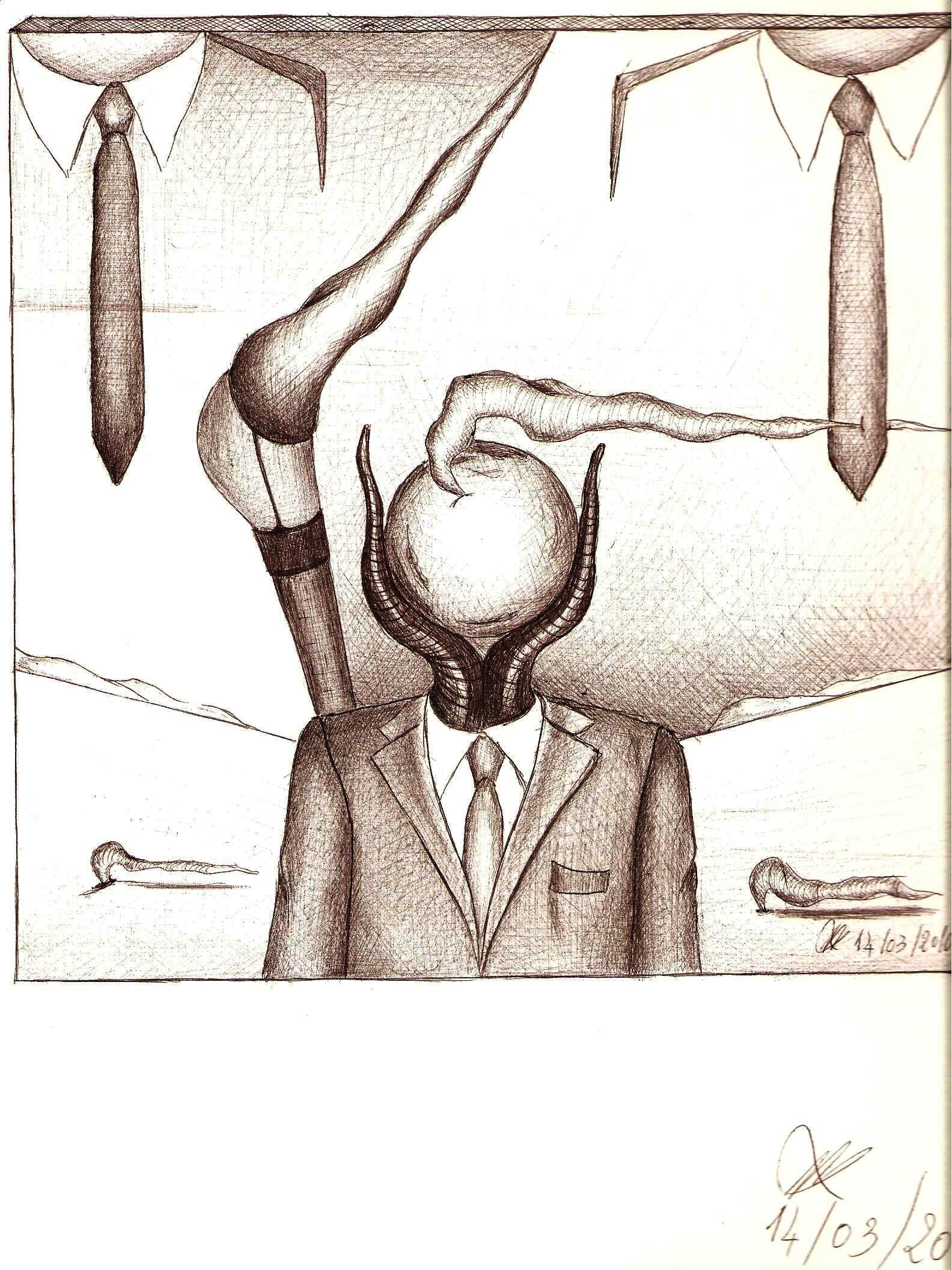 Disegno a penna, Telecronista 2010, Pasquale Mastrogiacomo Acerno(SA)