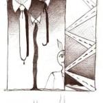 Disegno a penna, Tutto fumante 2006, Pasquale Mastrogiacomo Acerno(SA)