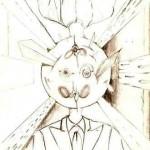 Disegno a penna, Contrapposizione di visioni 2006. Pasquale Mastrogiacomo Acerno(SA)
