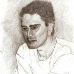 Disegno a matita, Ritratto di tre quarti 2007, Pasquale Mastrogiacomo Acerno(SA)