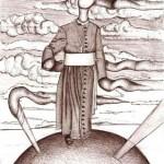 Disegno a penna, Passeggiata sul mondo con Fumi divini, 03/01/2008 cm 26x29,6, Pasquale Mastrogiacomo Acerno(SA)