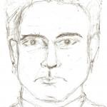 Disegno a penna, Ritratto di un folle 2007, Pasquale Mastrogiacomo Acerno (SA)