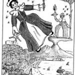 """Disegno a penna, Illustrazione """"Napolimagia"""" 2009, Pasquale Mastrogiacomo Acerno(SA)"""