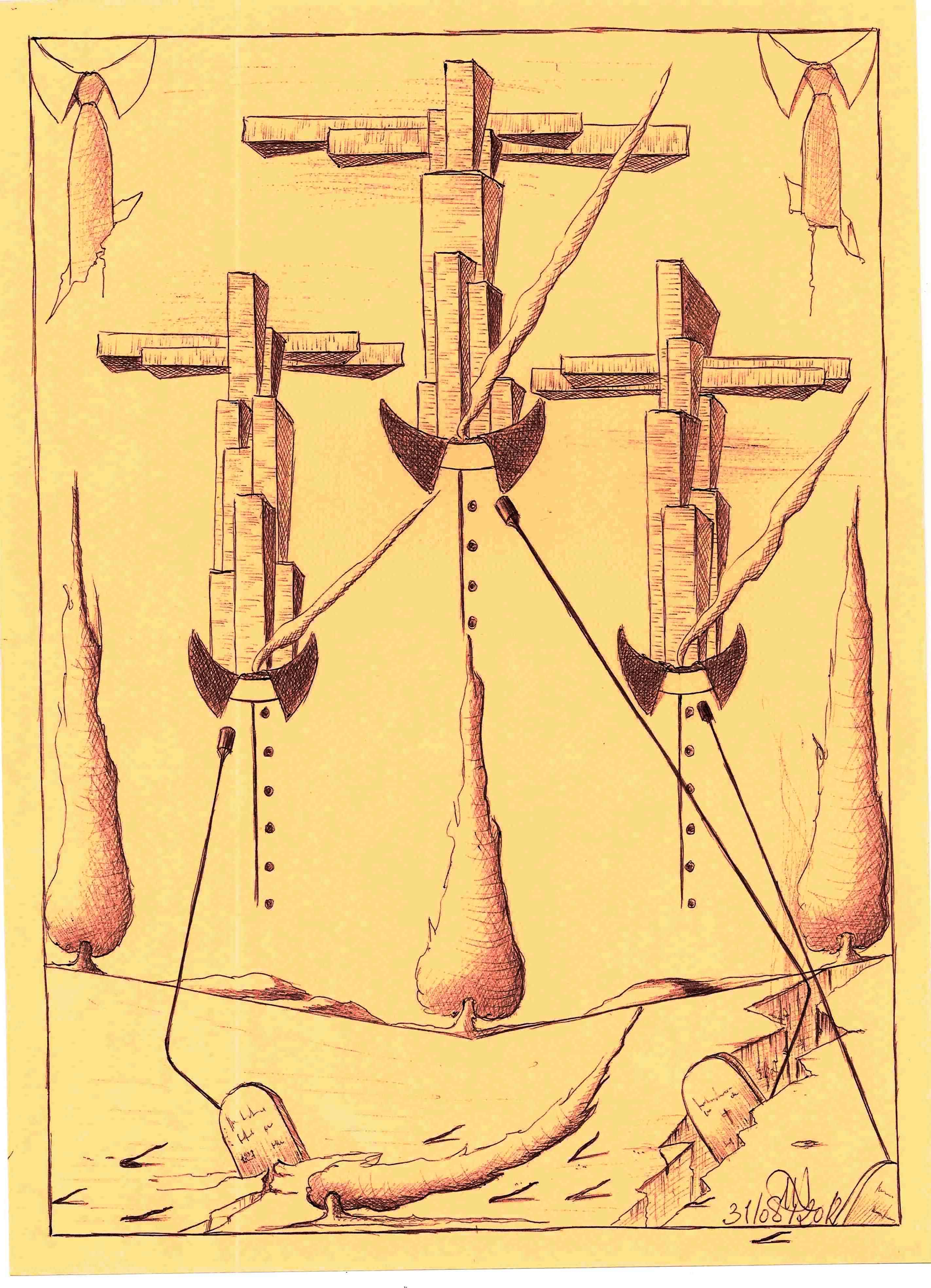 Disegno a penna 2012, Supremazia occidentale, Pasquale Mastrogiacomo Acerno(SA)