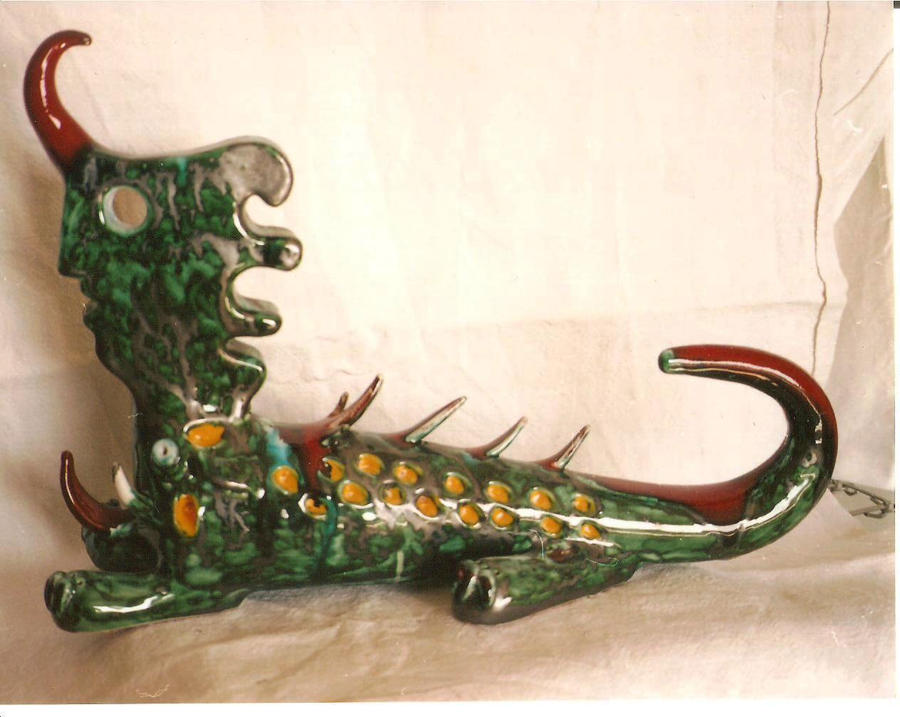 Animale bicefalo, 1995 ceramica artistica, Pio Mastrogiacomo, Acerno(SA)