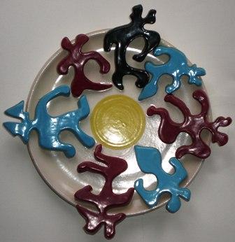 Ridda infernale, collage, ceramica artistica, 1993, Pio Mastrogiacomo, Acerno(SA)