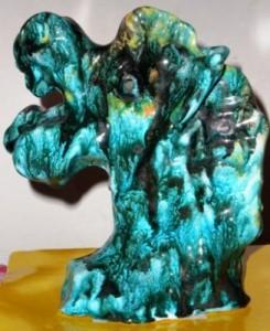 Testa di cavallo, 1995 ceramica artistica, Pio Mastrogiacomo, Acerno(SA).