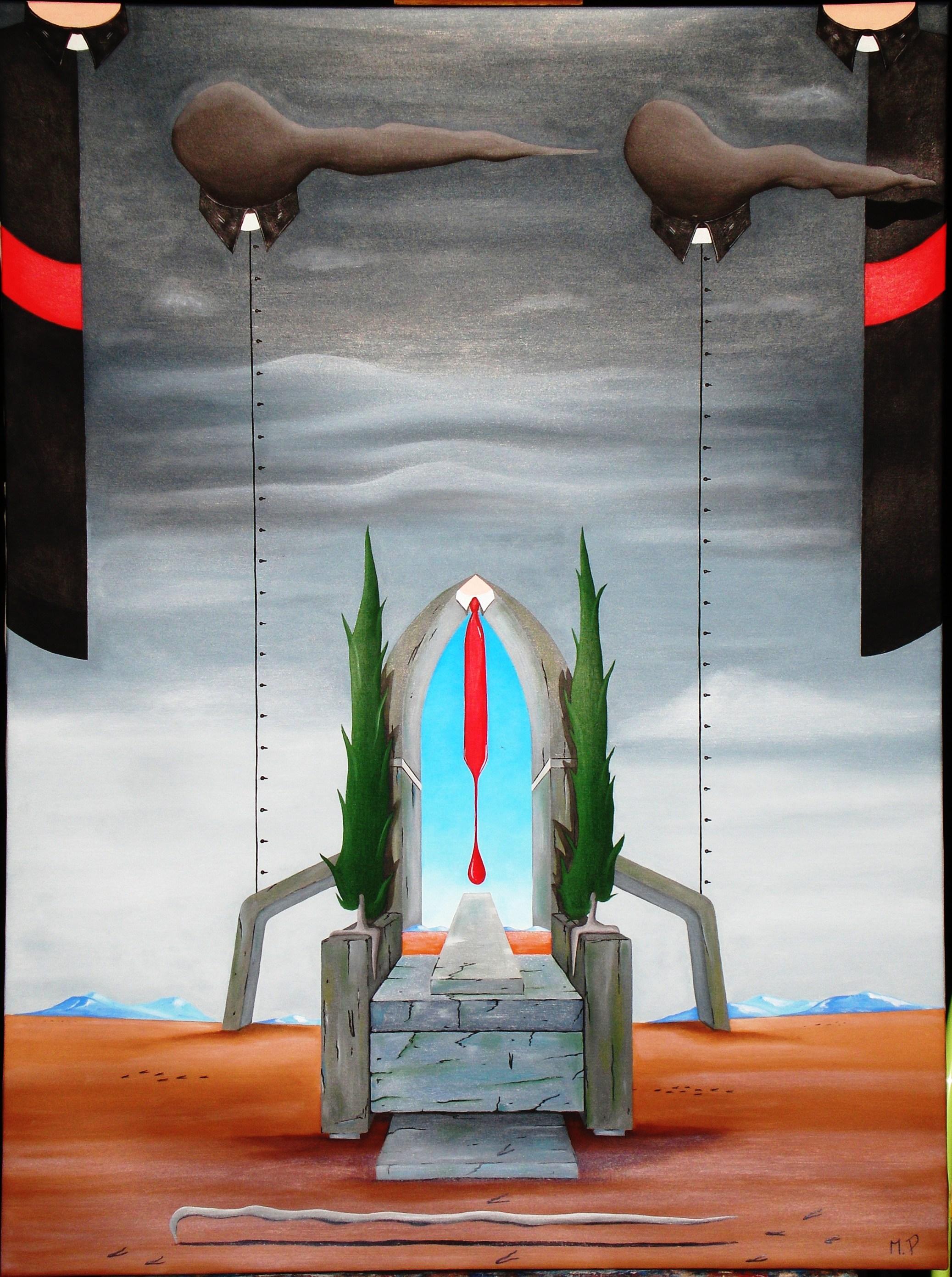 I poteri, 2013 olio su tela cm 60x80, The powers, oil on canvas, Pasquale Mastrogiacomo, Acerno (SA).