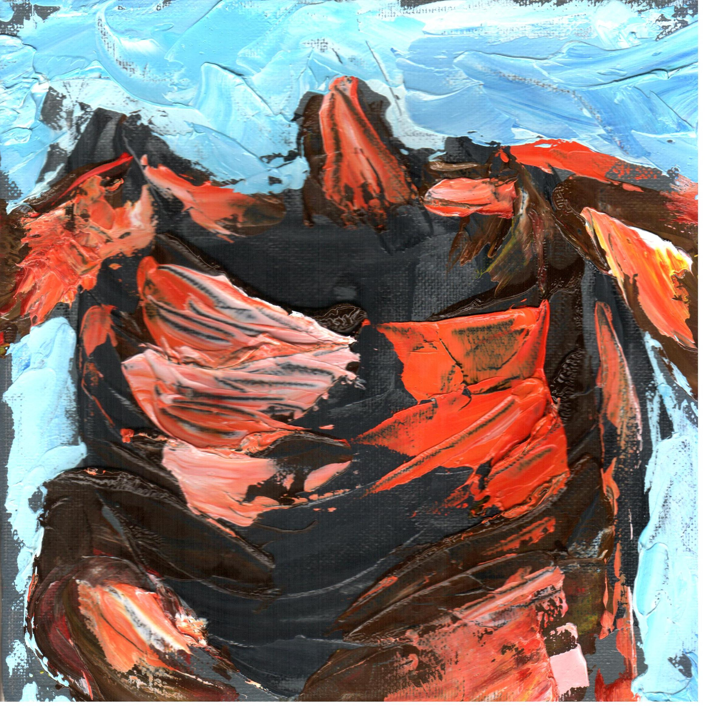 Capriccio informale (whim informal), 2015 dipinto olio su tela (painting-oil on canvas) cm 20x20, Pasquale Mastrogiacomo, Acerno (SA).