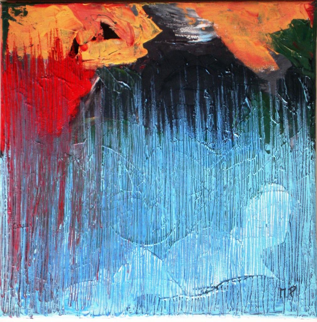 Capriccio informale 3 (Whim informal), 2015 dipinto olio su tela (painting oil on canvas), cm 30x30,Pasquale Mastrogiacomo, Acerno (SA).