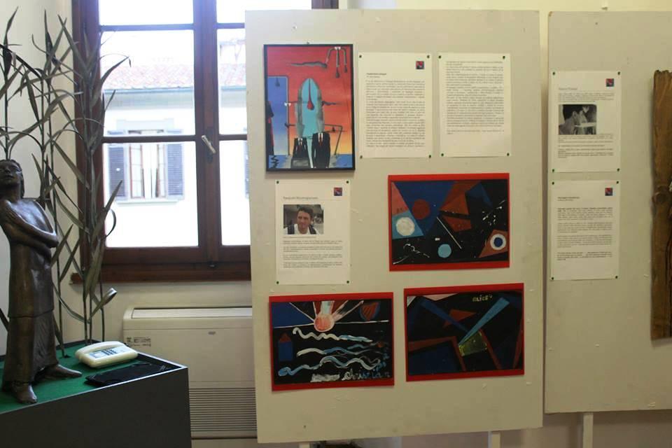 Foto tratta dalla mostra realizzata in occasione del decennale della morte dell'artista Volturno Morani, Firenze 2015, Pasquale Mastrogiacomo
