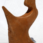 La santa el-rezione (the saint el-erection), 1997 bozzetto in terracotta (earthenware sketch) h 15 cm, Pasquale Mastrogiacomo, Acerno (SA).