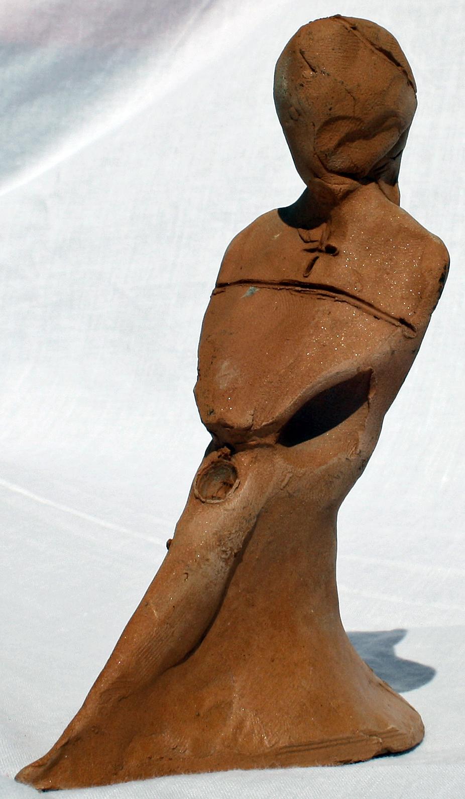La prostituzione di un vescovo (Prostitution of a bisho), 1997 bozzetto in terracotta (earthenware sketch), h 17 cm, Pasquale Mastrogiacomo, Acerno (SA).