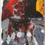 Ritratto di un cacciatore arcaico (Portrait of a hunter archaic), 2015 dipinto olio su tela (painting oil on canvas), cm 20x30, Pasquale Mastrogiacomo, Acerno (SA).