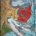 Maternità (Maternity), 2016 olio su tela (oil painting on canvas), Pasquale Mastrogiacomo, Acerno (SA).