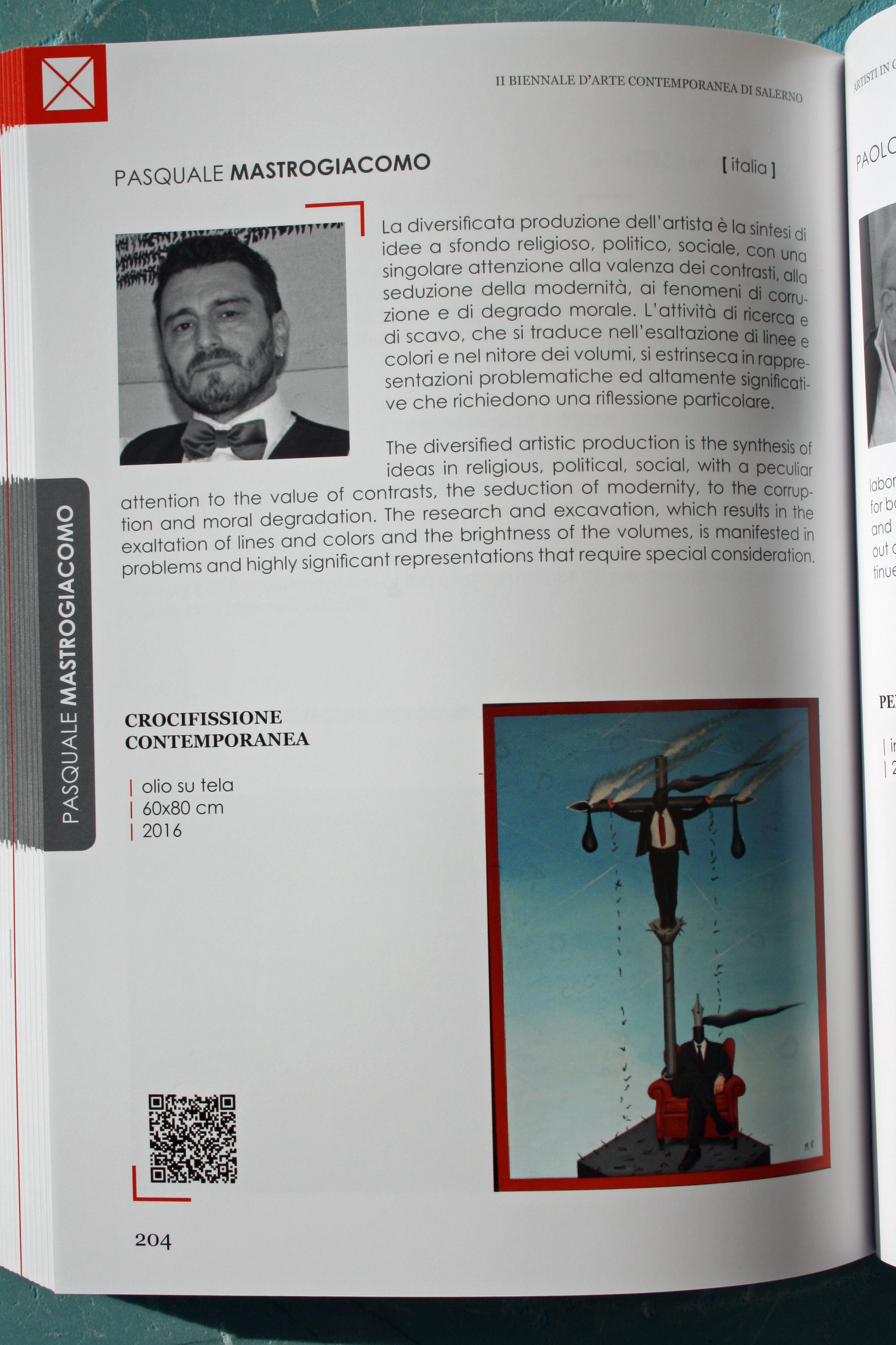 Biennale D'Arte Contemporanea di Salerno 2016. Pasquale Mastrogiacomo