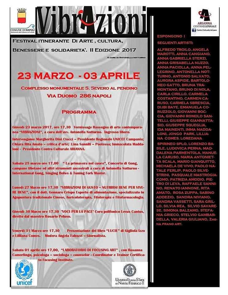 """Locandina della mostra """"Vibrazioni"""" II edizione 2017"""
