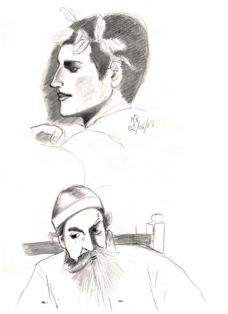 Scarabocchi durante la lettura serale, 2017 disegno a matita , Pasquale Mastrogiacomo, Acerno (SA).