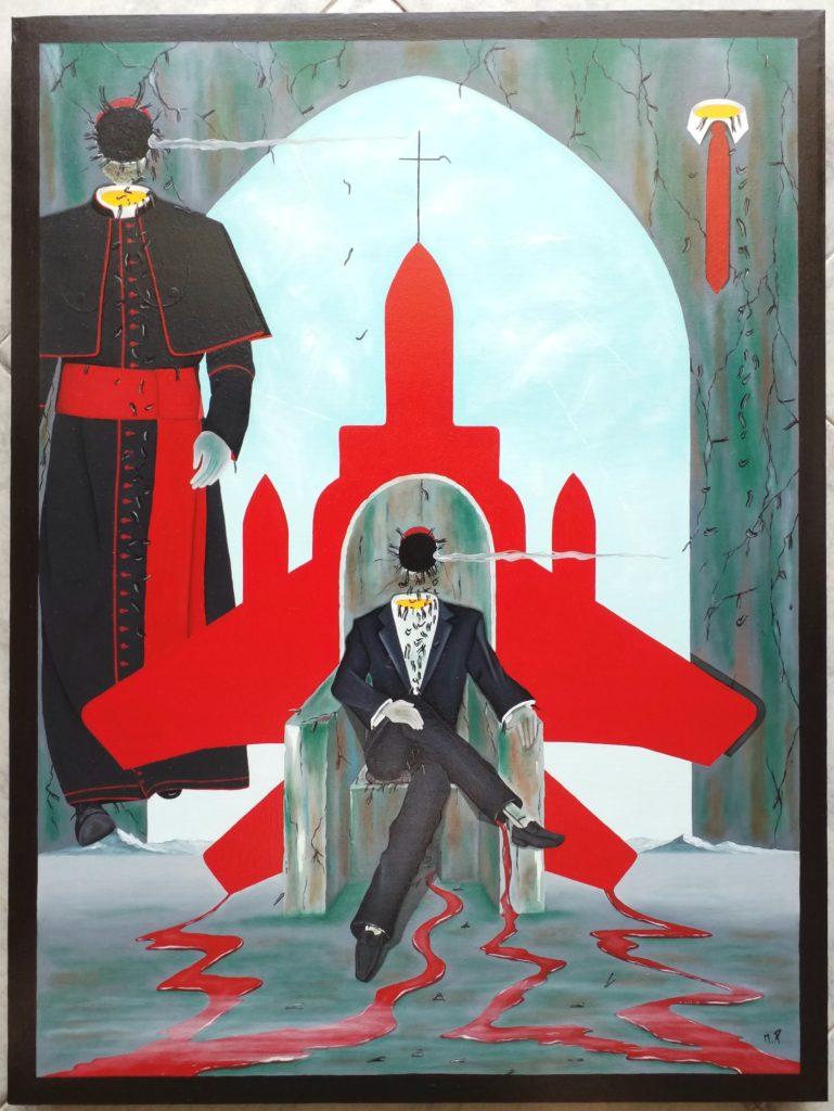 Intellighenzia ambivalente, 2018 olio su tela, cm 60x80, Pasquale Mastrogiacomo