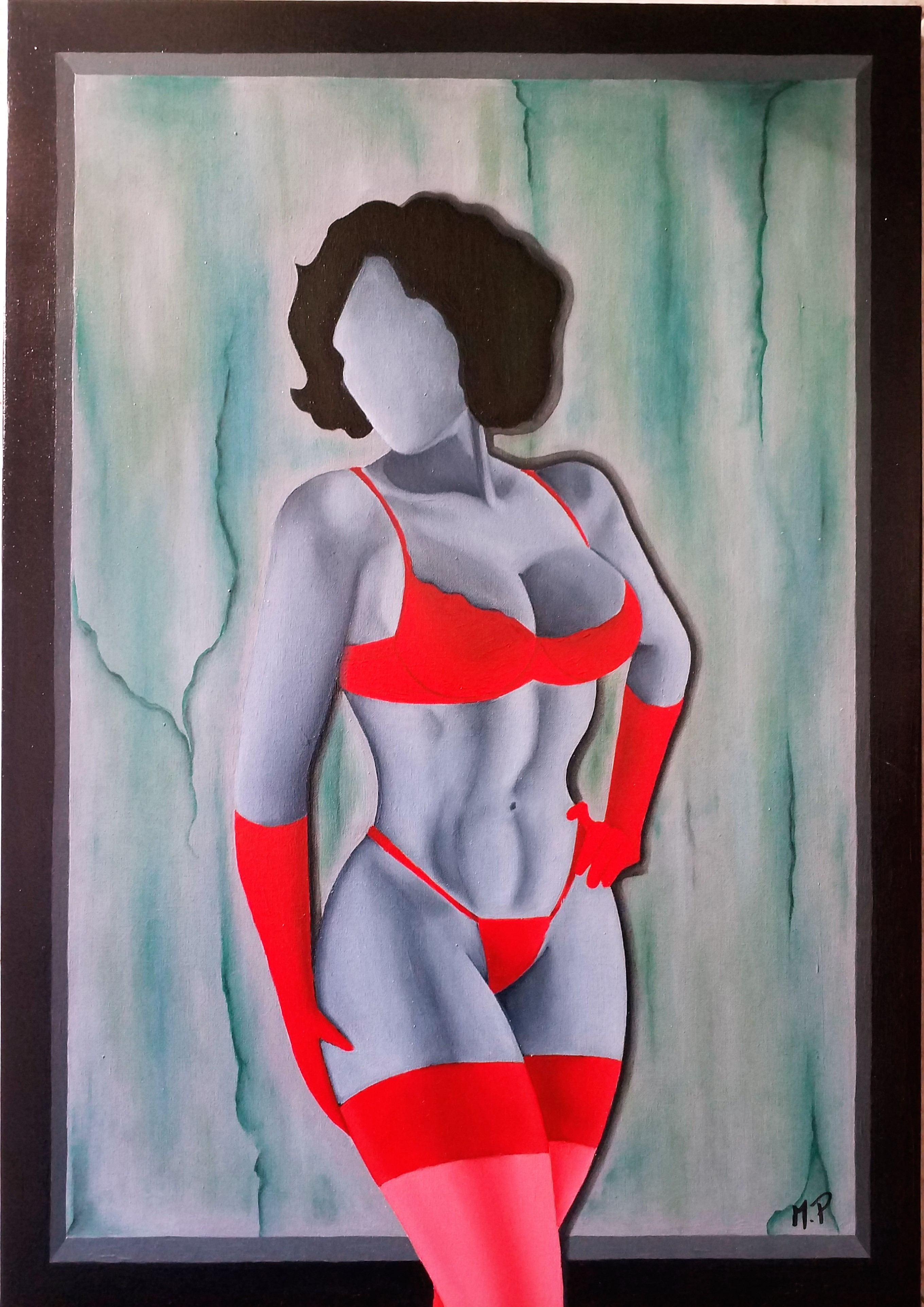 Erotismo (eroticism), 2018 olio su tela cm 35x50, Pasquale Mastrogiacomo, Acerno(SA)