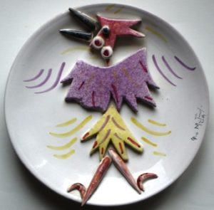 Pio Mastrogiacomo, piatti in collage e volti filettati in ceramica dal 1991 al 1999