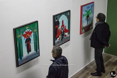 Mostra personale di pittura e scultura di Pasquale Mastrogiacomo, CIVICO 23,Salerno.Con Mario Esposito e Salvatore Criscuolo.Foto di Antonio Caporaso & Jacopo Naddeo.