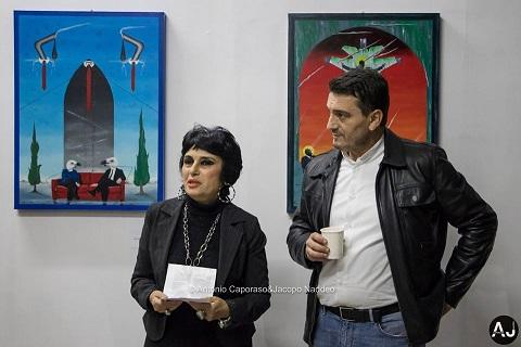 Mostra personale di pittura e scultura di Pasquale Mastrogiacomo. con il critico d'arte Cristina Tafuri. Foto di Antonio Caporaso&Jacopo Naddeo.