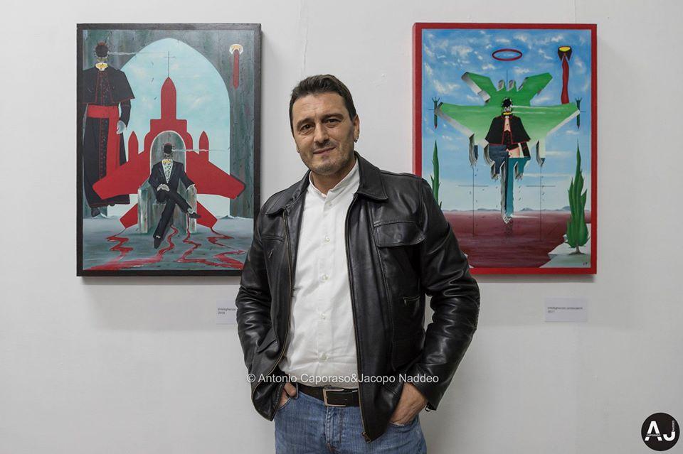 Mostra personale di pittura e scultura di Pasquale Mastrogiacomo. Foto di Antonio Caporaso & Jacopo Naddeo.