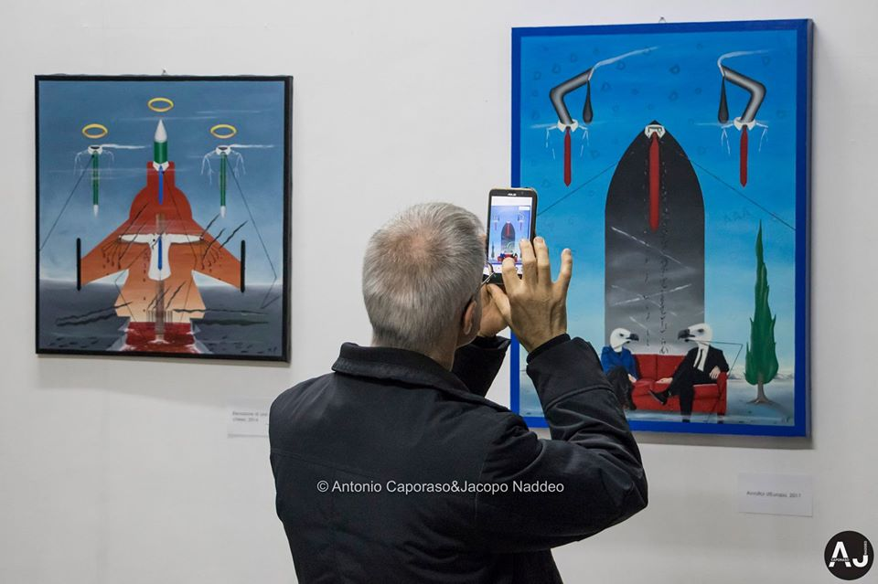 Mostra personale di pittura e scultura di Pasquale Mastrogiacomo, CIVICO 23,Salerno. Foto di Antonio Caporaso & Jacopo Naddeo.