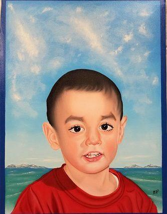 Ritratto di Pio Giuseppe Mastrogiacomo, 2017 olio su tela cm35x50,Pasquale Mastrogiacomo.