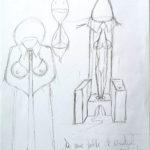 Schizzo a matita, 2020 disegno a matita su foglio 21x29cm, Pasquale Mastrogiacomo.