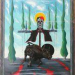 CAROVANA DELLA MORTE, 2019 olio su tela cm 60x80, Pasquale Mastrogiacomo.