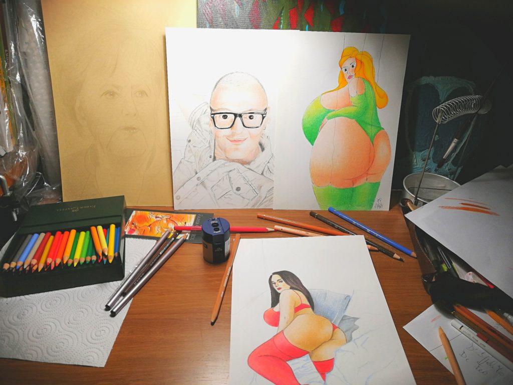 Il mio altarino della creatività, 2020, lavori in corso, Pasquale Mastrogiacomo