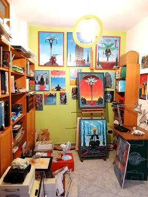 Quasi ultimato, spolverato, imbiancato, riorganizzato… Il ritorno all'ordine, al mio vecchio studio…2020,Pasquale Mastrogiacomo.