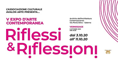 Invito-V EXPO D'ARTE CONTEMPORANEA, Riflessi & Riflessioni 2020. Pasquale Mastrogiacomo.