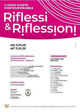 Locandina-V EXPO D'ARTE CONTEMPORANEA, Riflessi & Riflessioni 2020. Pasquale Mastrogiacomo.