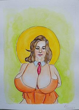 Prosperità,2020 acquerello ,cm 21x29,Pasquale Mastrogiacomo.