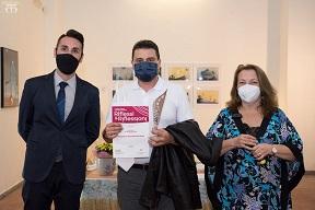 Consegna attestato di partecipazione della collettiva di arte contemporanea RIFLESSI e RIFLESSIONI,Avalon Art, Salerno, Pasquale Mastrogiacomo.