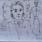 Scarabocchi di penna, 2020 disegno su foglio A4,Pasquale Mastrogiacomo.